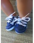 Sportschoentjes blauw/zilver