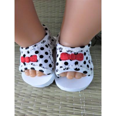 Sandalen zwart/wit