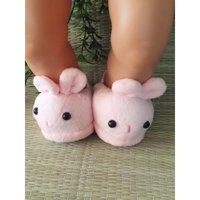 Konijnen slippers roze