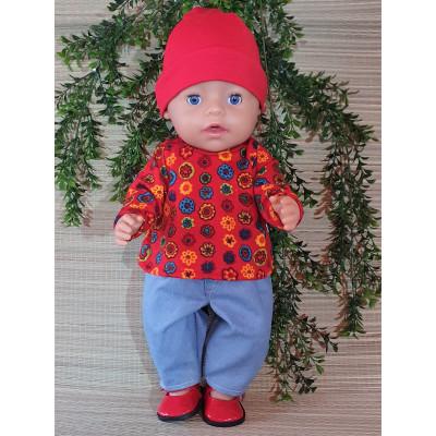 trui rood motief V418