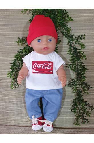 T shirt Coca Cola wit V164