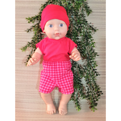 korte broek roze/rood V364